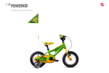 GHOST Powerkid 12 green / yellow - UNI