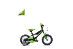 GHOST Powerkid 12 - Black / Green - 12